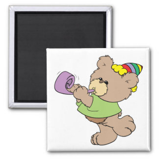 cute party bear with party favor design magnet