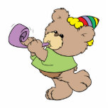 cute party bear with party favor design acrylic cut outs