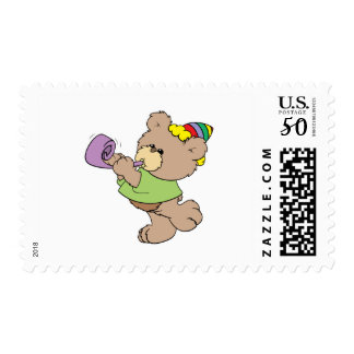 cute party bear with party favor design postage