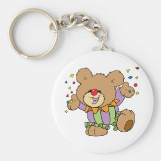 cute party clown teddy bear design keychain