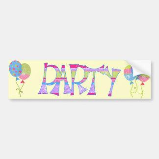 Cute Party Favor Bumper Sticker