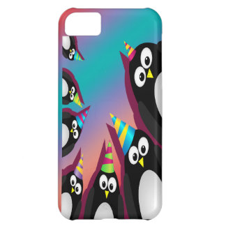 cute party penguins iphone 5 barely there case case for iPhone 5C