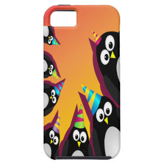 cute party penguins iphone 5 vibe cover case 2 iPhone 5 case