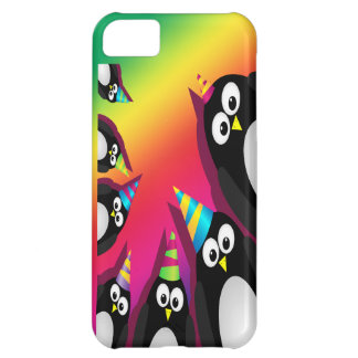 cute party penguins iphone 5 vibe cover case 2 iPhone 5C case