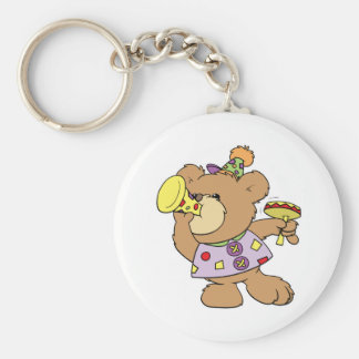 cute party teddy bear with noise makers keychain