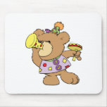 cute party teddy bear with noise makers mouse pad