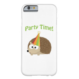 Cute Party Time Hedgehog Barely There iPhone 6 Case