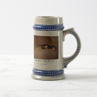 Cute Passed Out Puppy Stein Mug