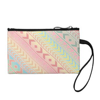 Cute Pastel Aztec Influenced Pattern Coin Wallet