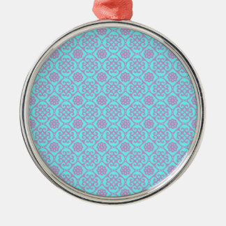 Cute Pastel Aztec Pattern Metal Ornament