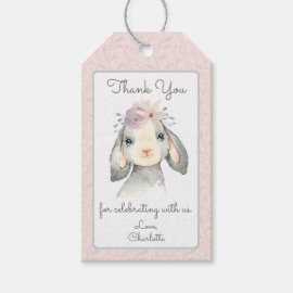 Cute Pastel Baby Lamb Thank You Gift Tags