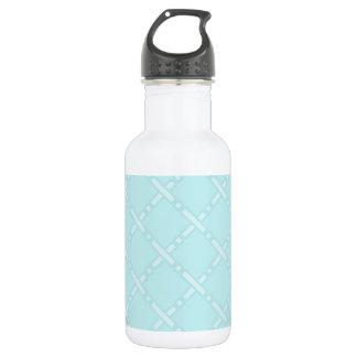 Cute Pastel Blue Retro Pattern 18oz Water Bottle