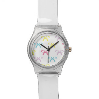 Cute Pastel Bows in Spring Colors Wrist Watches