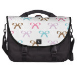 Cute Pastel Bows with Chocolate Accents Laptop Bags