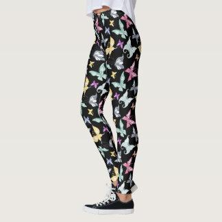Cute Pastel Butterfly Design Leggings
