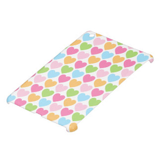 Cute pastel colored candy hearts girly case for the iPad mini
