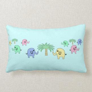 Cute Pastel Elephants Kids Pillow