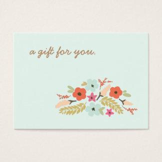 Cute Pastel Flowers Gift Certificate