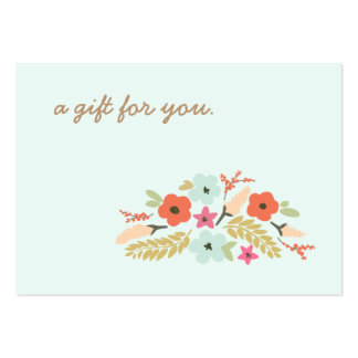 Cute Pastel Flowers Gift Certificate Large Business Card