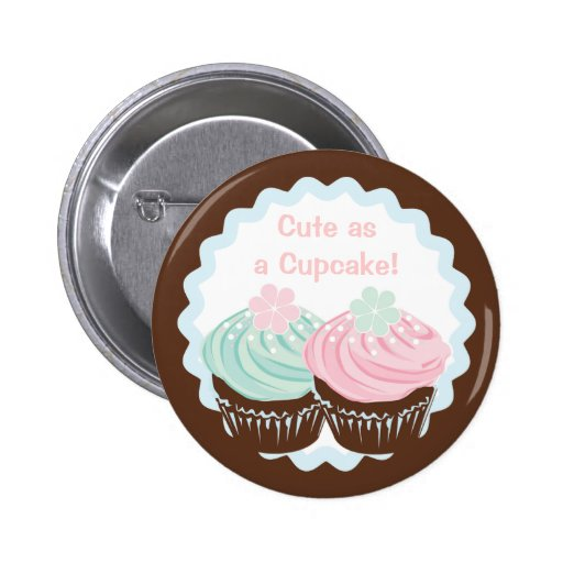 Cute Pastel Frosted Cupcakes 2 Inch Round Button