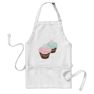 Cute Pastel Frosted Cupcakes Adult Apron