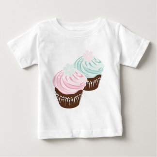 Cute Pastel Frosted Cupcakes Baby T-Shirt