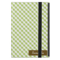 Cute Pastel Green Gingham Pattern iPad Mini Case