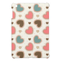 Cute pastel hearts pattern iPad mini cover