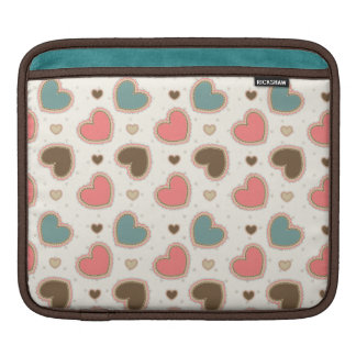 Cute pastel hearts pattern sleeve for iPads