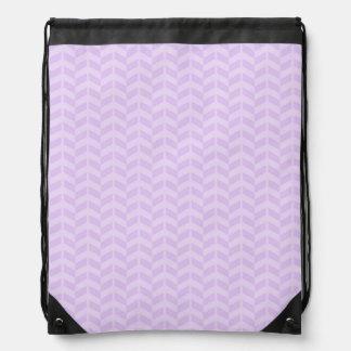 Cute Pastel Lavender Purple Chevron Cinch Bag