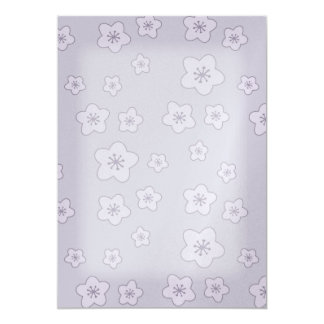 Cute Pastel Lavender Silver Cherry Blossom Pattern Card