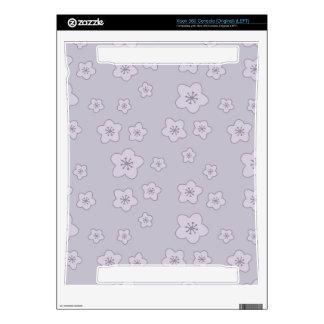 Cute Pastel Lavender Silver Cherry Blossom Pattern Xbox 360 Skin