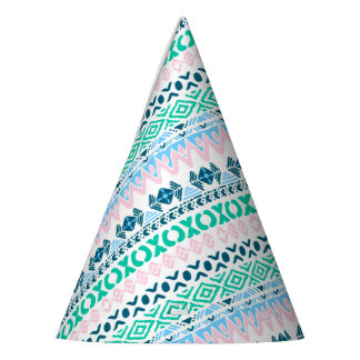 Cute pastel navaho art patterns party hat