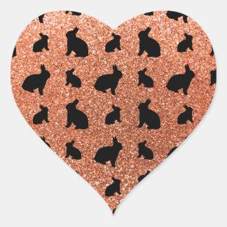 Cute pastel orange bunny glitter pattern stickers