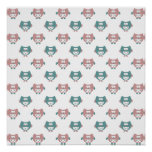 Cute Pastel Owls Poster