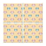 Cute Pastel Owls Stretched Canvas Prints