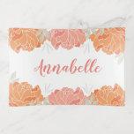 Cute Pastel Peach & Orange Peonies Floral Personal Trinket Trays