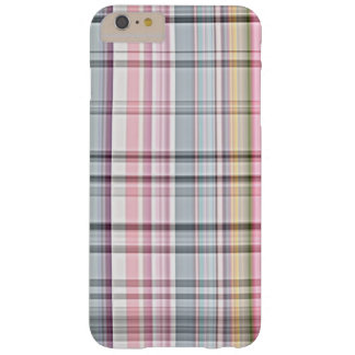 Cute Pastel Pink Blue Retro Tartan Plaid Pattern Barely There iPhone 6 Plus Case