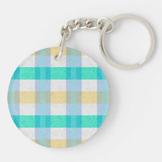 Cute Pastel Plaid Pattern Keychain