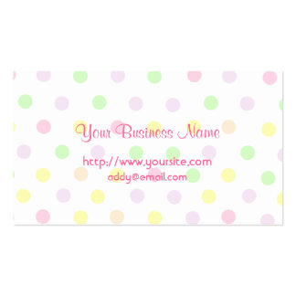 Cute Pastel Polka Dot Design Double-Sided Standard Business Cards (Pack Of 100)