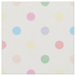 Cute Pastel Polka Dots New Baby Nursery Fabric 3