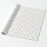 Cute Pastel Polka Dots New Baby Wrapping Paper 1 at Zazzle