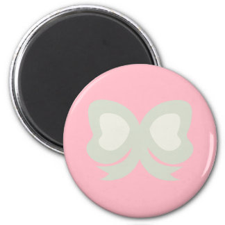 CUTE PASTEL POLKADOTS AND RIBBONS 2 INCH ROUND MAGNET
