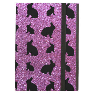 Cute pastel purple bunny glitter pattern iPad air case