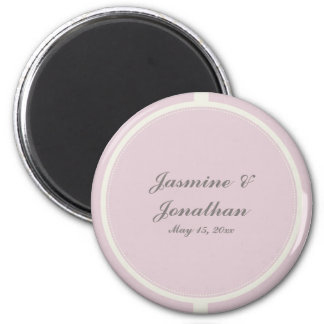 CUTE PASTEL PURPLE POLKADOTS AND RIBBONS 2 INCH ROUND MAGNET
