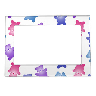 Cute Pastel Teddy Bears New Baby Magnetic Photo Frame