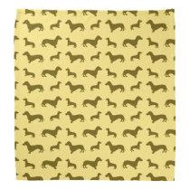 Cute pastel yellow dachshund pattern bandana