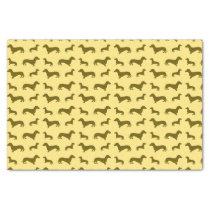 Cute pastel yellow dachshund pattern tissue paper