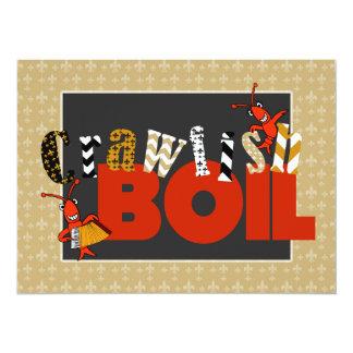 Cute Patchwork Fleur de Lis Crawfish Boil Invite