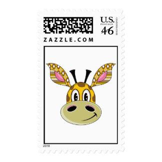 Cute Patchwork Giraffe Postage Stamp
